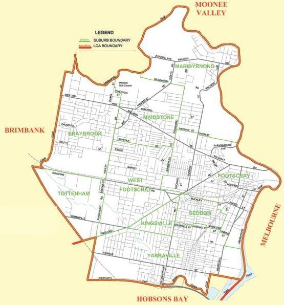 boundary of Footscray